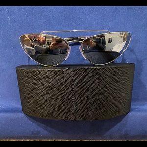 Prada cat eye mirrored sunglasses